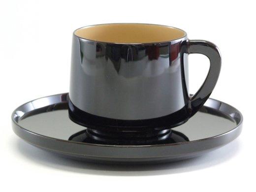 輪島塗コーヒーカップ中白うるし塗り