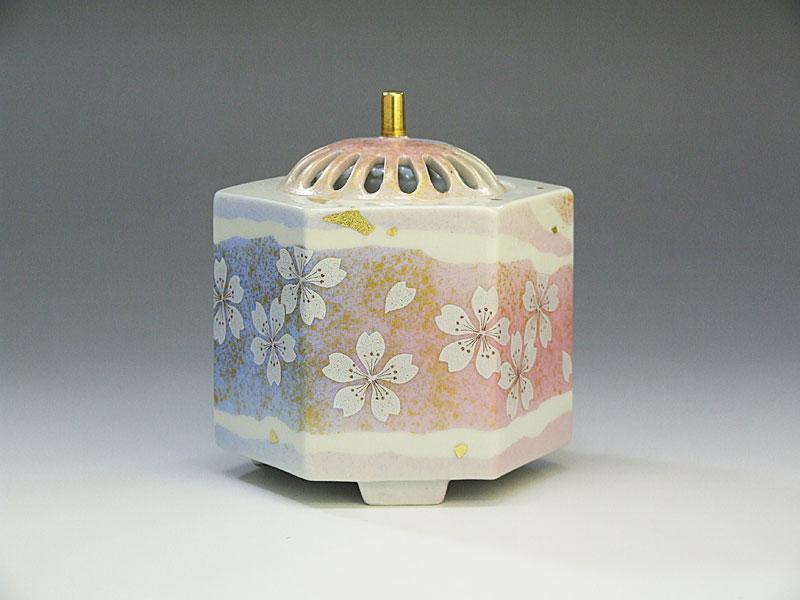 九谷焼 花の舞香炉