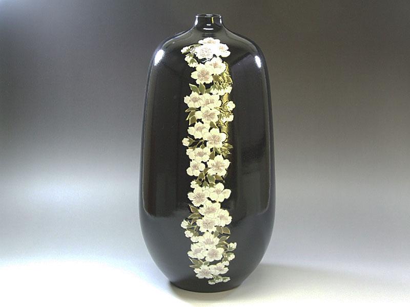 九谷焼【後上俊香】作華紋花瓶