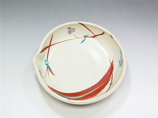 九谷焼 6号鉢赤絵4