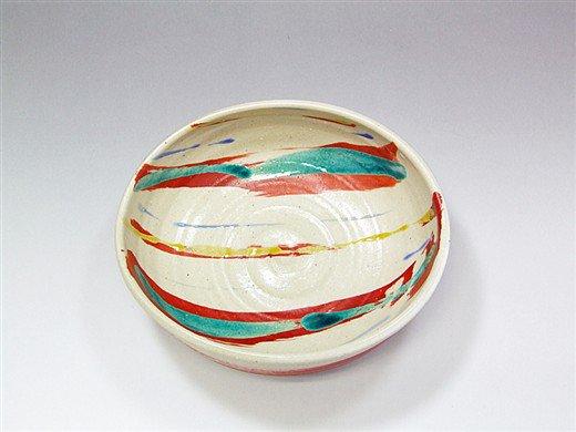 九谷焼 6号鉢赤絵8