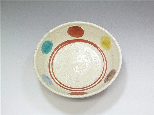 九谷焼 6号鉢赤絵7
