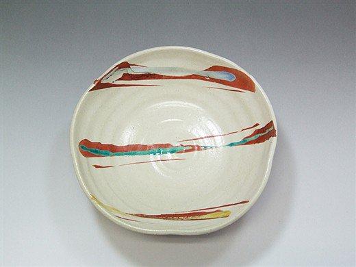 九谷焼 6号鉢赤絵6