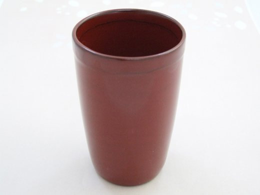 山中塗 ビアーカップ (古代朱)