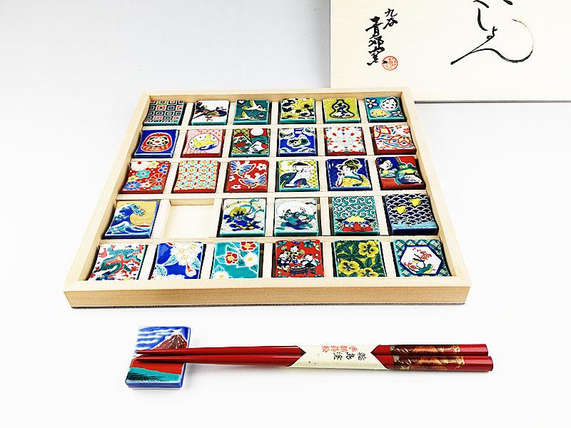 九谷焼 色絵はしおきコレクション