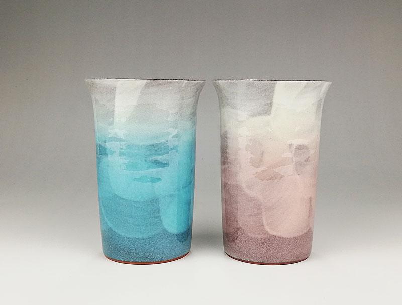 九谷焼 ペアフリーカップ釉彩