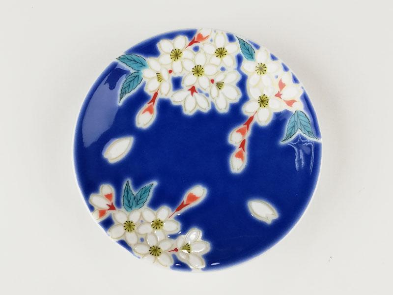 九谷焼 縁起豆皿吉祥桜