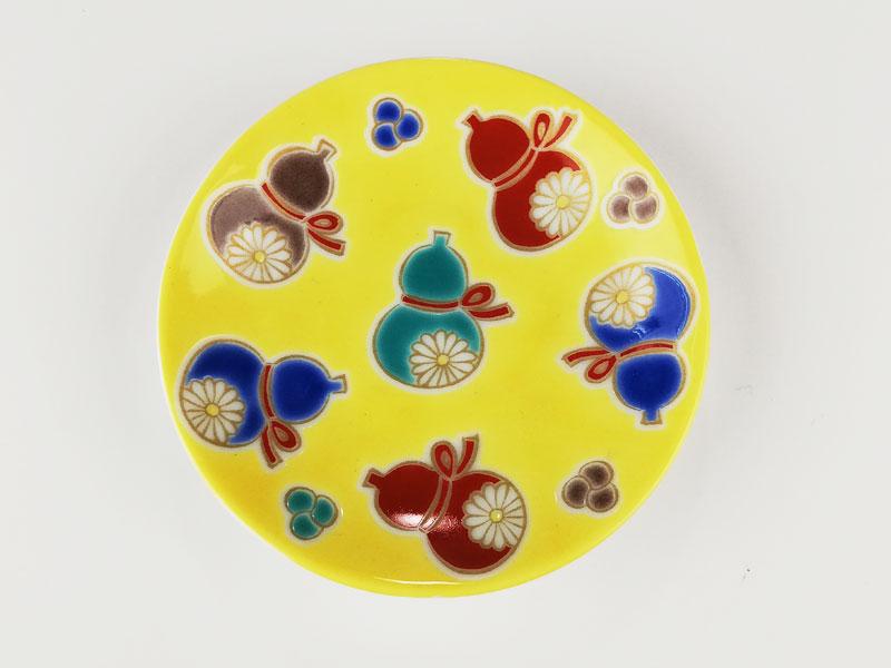 九谷焼 縁起豆皿吉祥六瓢