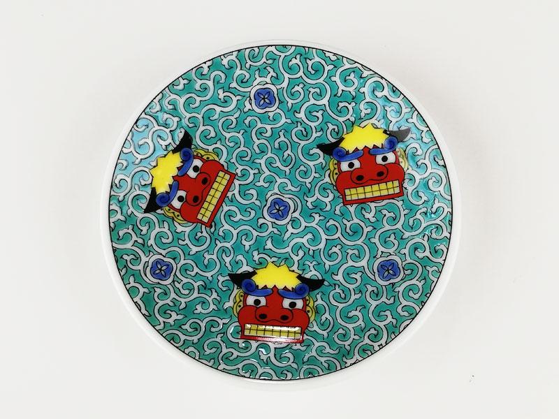 九谷焼 縁起豆皿吉祥獅子舞