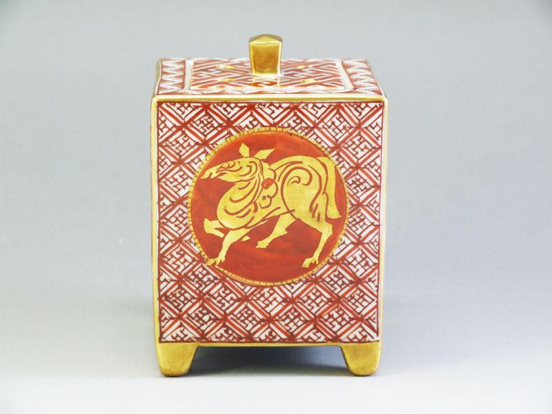 九谷焼【山岸政明】作干支の図香炉